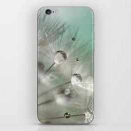 Silver Mint Dandelion iPhone Skin
