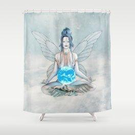 Air Elemental Fairy Shower Curtain