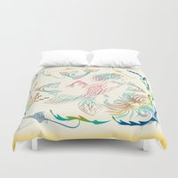 mermaid Duvet Covers featuring Mermaid by famenxt