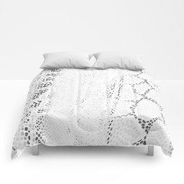 White Snake Skin Comforters