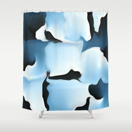 Blue camouflage Shower Curtain