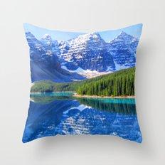 Moraine Lake Throw Pillow