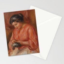 Girl Darning Stationery Cards