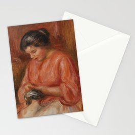 Girl Darning Stationery Cards