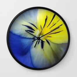 Flower Blue Yellow Wall Clock