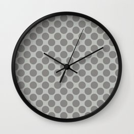 Benjamin Moore Cinder Dark Gray AF-705 Uniform Large Sized Polka Dots on Metropolitan COY 2019 Wall Clock