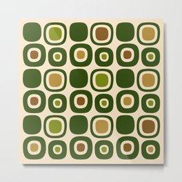 Mid Century Modern Garden Path Pattern 321 Metal Print