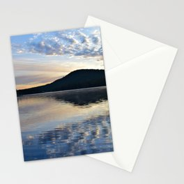 Rippling Reflections: September Sunrise on Lake George Stationery Cards