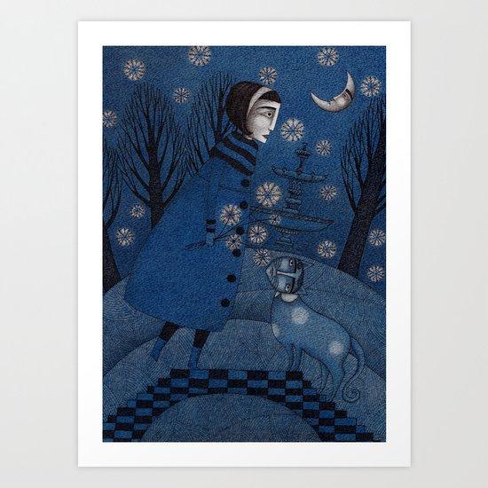 December Park (3) Art Print