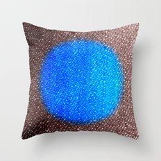 Fabric-like Blue Throw Pillow