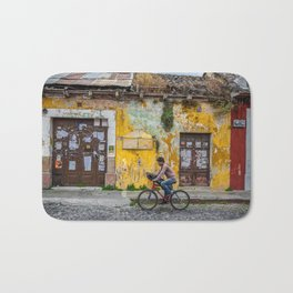 Antigua by bicycle Bath Mat