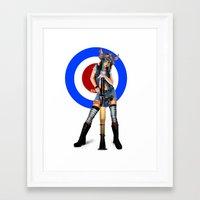 tank girl Framed Art Prints featuring Tank Girl by Valérie Loetscher (Vay)