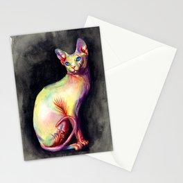 White Sphynx Stationery Cards