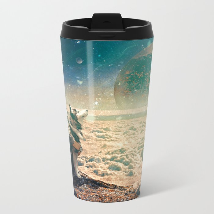 Watching Closely Metal Travel Mug
