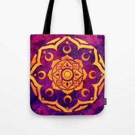 """""""Witchcraft""""  WATERCOLOR MANDALA (HAND PAINTED) BY ILSE QUEZADA Tote Bag"""