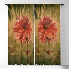 Hand painted vintage flower Blackout Curtain