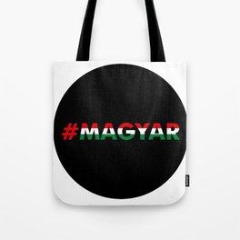 Hashtag Magyar, circle, black Tote Bag