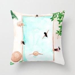 Pool Day Throw Pillow