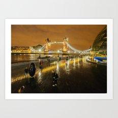 Tower bridge In Art Art Print
