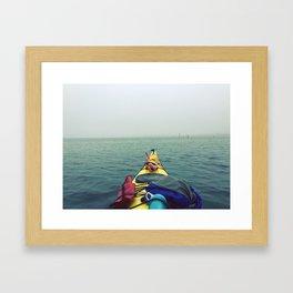 Tomales Bay Kayaking - Inverness, California Framed Art Print