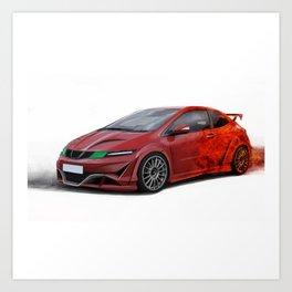 Honda Civic TypeR Art Print