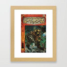 BioShock: Vintage Comic Cover Framed Art Print