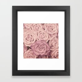 Some People Grumble - Pink Rose Pattern - Roses Garden Framed Art Print