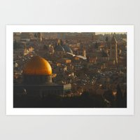 palestine Art Prints featuring Jerusalem, Palestine by ear2ear