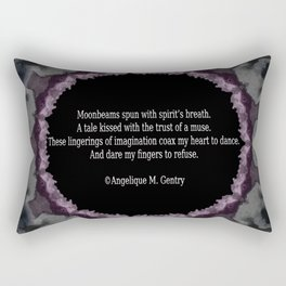 'Muse Touched Poem' by Angelique G. FromtheBreathofDaydreams Rectangular Pillow