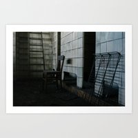 Urbex - chair Art Print