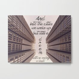Into the Cities Metal Print