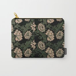 William Morris, dark floral pattern, redesigned,beautiful,victorian,art nouveau, vintage,belle époque,timeless style,classy,modern,trendy,trending,chic,elegant Carry-All Pouch