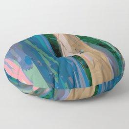 Rainbow Forest Floor Pillow