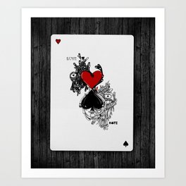 Love Hate Art Print