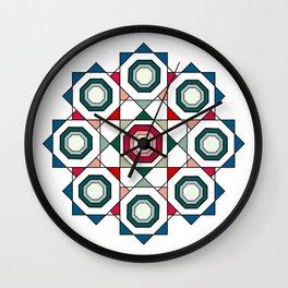 Tile mandala Wall Clock