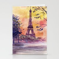 paris Stationery Cards featuring Paris by Anna Shell