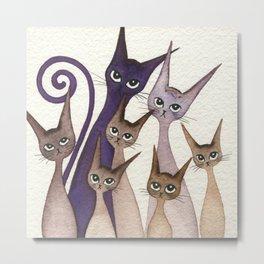 Phoenix Whimsical Cats Metal Print