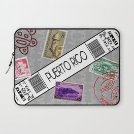 Welcome to Puerto Rico White/Grey Laptop Sleeve