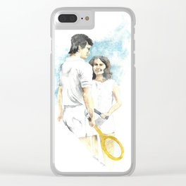 tennis players Clear iPhone Case