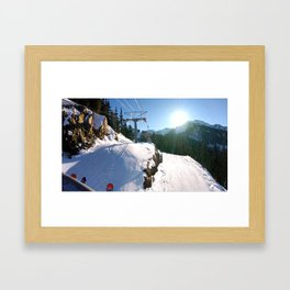 Mountains transport Framed Art Print