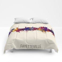 Fayetteville Arkansas Skyline Comforters