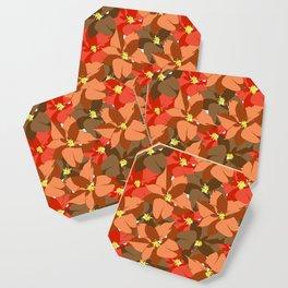 Poinsettia Love Coaster