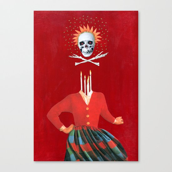 Candle lady Canvas Print