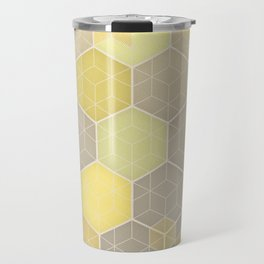Lemon & Grey Honeycomb Travel Mug