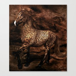 Horse crosses with cheetah Canvas Print