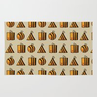 bee Area & Throw Rugs featuring BEE DIFFERENT by Huebucket