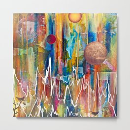 Utopian Dreamscape Metal Print
