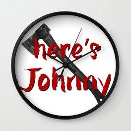 Shining Here's Johnny Wall Clock