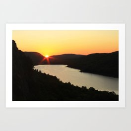 Sunrise over Lake of the Clouds Art Print