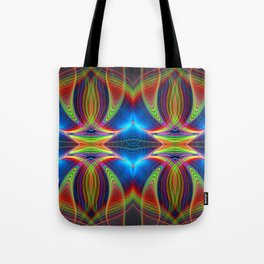 Play of lines, abstract fractal pattern Tote Bag